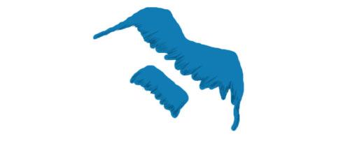 Schnauzbart als Logo