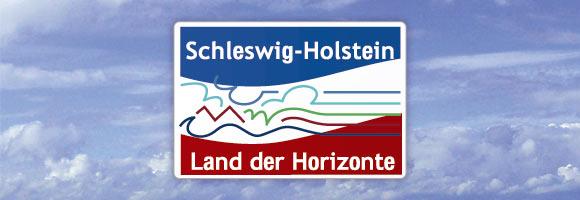 Montage: Schleswig-Holstein-Logo vor Himmel