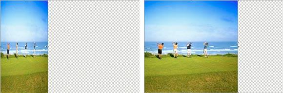 Vergleich von der alten Skalierfunktion und der neuen in Photoshop