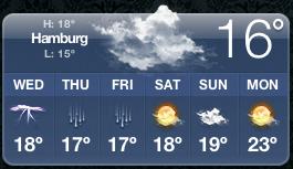 Wochenübersicht aus einer Wetter-App
