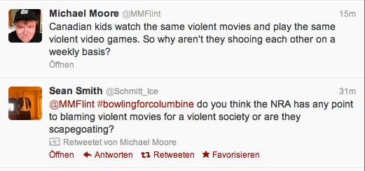Michael Moore auf Twitter. Vergleich Zwischen Amerika und Kanada