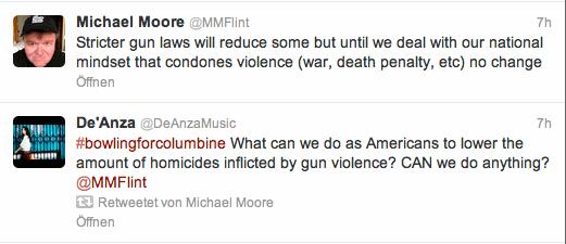Michael Moore auf Twitter zum Thema Waffen in Amerika
